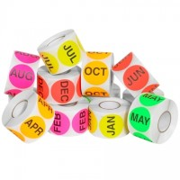 """Months of the Year Circle Label Pack, 2"""""""
