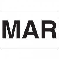 """White """"MAR"""" Inventory Labels, 2"""" x 3"""""""
