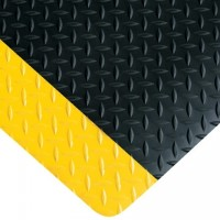 "Diamond Plate Anti-Fatigue Mat - 9/16"" thick, 3 x 16'"