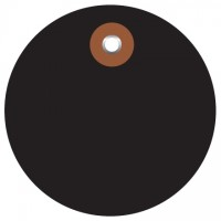 Black Plastic Circle Tags - 2""