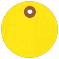 Yellow Plastic Circle Tags - 2""