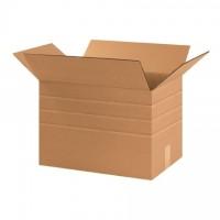 "Corrugated Boxes, Multi-Depth, 17 1/4 x 11 1/4 x 12"", Kraft"