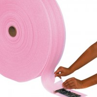 """Anti-Static Shipping Foam Rolls, 1/8"""" Thick, 12"""" x 550', Perforated"""
