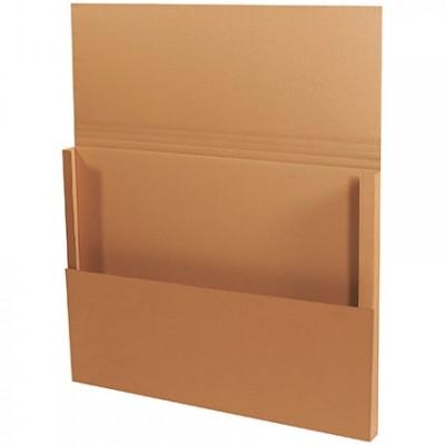 Easy-Fold Mailers, Jumbo, Kraft, 48 x 36