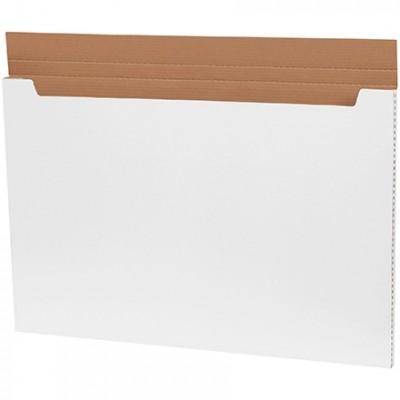 Jumbo Fold-Over Mailers, White, 36 x 24 x 1