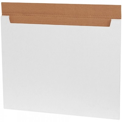 Jumbo Fold-Over Mailers, White, 28 x 22 x 1/4