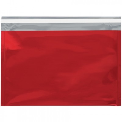 Glamour Mailers, Flat, Metallic Red, 9 1/2 x 12 3/4