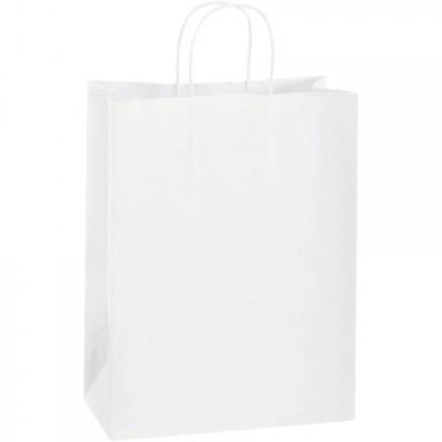 White Paper Shopping Bags, Debbie - 10 x 5 x 13