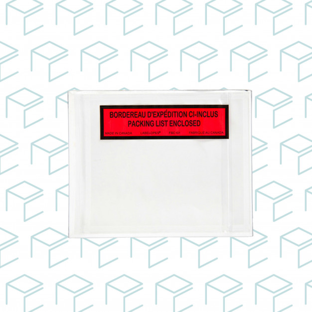 """Enveloppes de bordereau d'emballage auto-adhésives 4.5 """"X 5.5"""" - carton de 1000"""