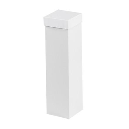 """Coffrets cadeaux de luxe - 4 x 4 x 15 """", blanc"""