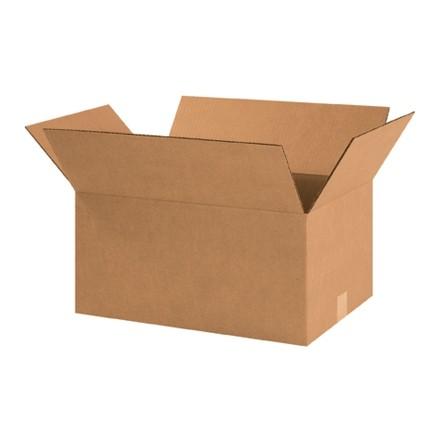 """Boîtes en carton ondulé, 18 1/2 x 12 1/2 x 9 """", Kraft"""