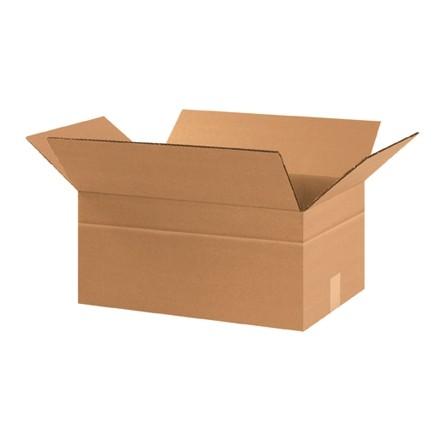 """Boîtes en carton ondulé, 17 1/4 x 11 1/4 x 8 """", Kraft"""