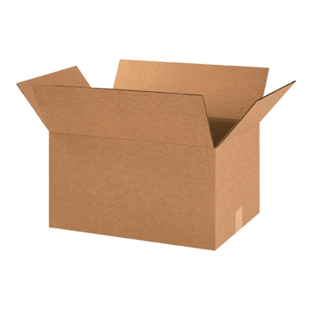 """Boîtes en carton ondulé, 18 x 12 x 10 """", Kraft"""