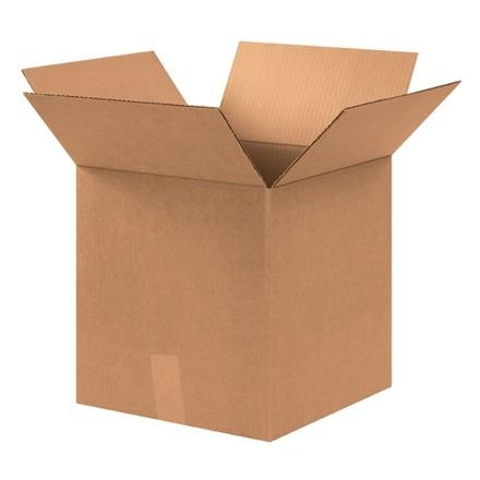 """Boîtes en carton ondulé, 12 x 12 x 13 """", Kraft"""