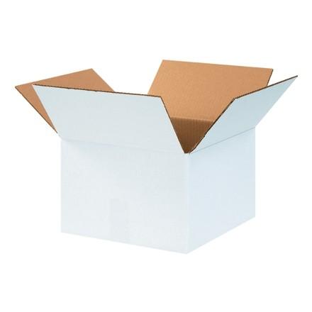 "Boîtes en carton ondulé, 12 x 12 x 8 "", blanc"