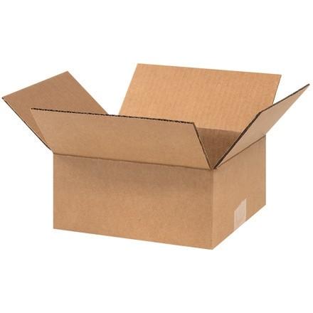 """Boîtes en carton ondulé, 9 x 8 x 4 """", Kraft"""