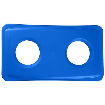 Couvercle de recyclage de bouteille et canette Slim Jim® - 23 gallons, bleu