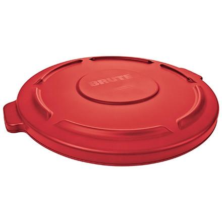 Couvercle plat pour poubelle Rubbermaid® Brute® - 55 gallons, rouge