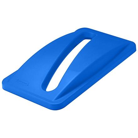Couvercle de recyclage de papier Slim Jim® - 23 gallons, bleu