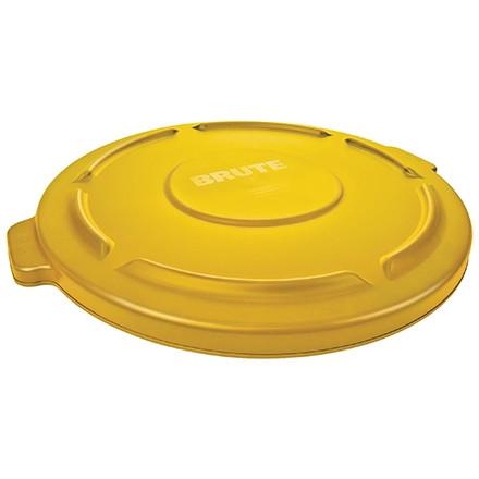 Couvercle plat pour poubelle Rubbermaid® Brute® - 55 gallons, jaune