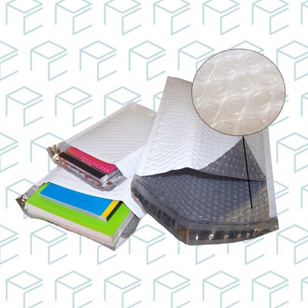 Enveloppe à bulles en poly Airjacket® n ° 5 - 10,5 po x 15,25 po - Boite de 100