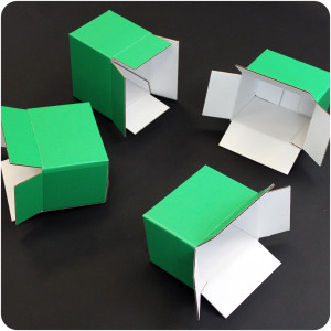 Carton à rainures standard personnalisé