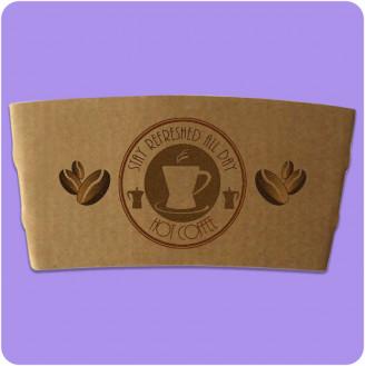 Custom Printed Coffee Cup Sleeve – Kraft
