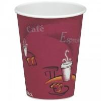Tasses chaudes en papier Solo®, design Bistro, 8 oz.