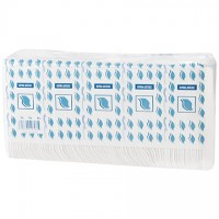 Serviettes en papier pour boissons, blanches, 9 x 9 po