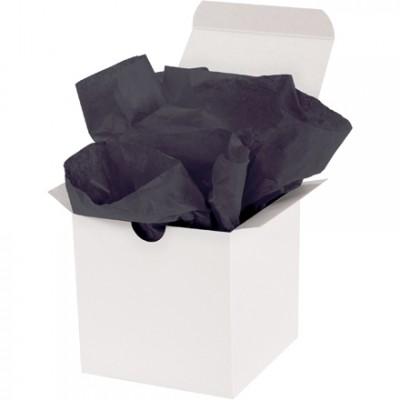 """Feuilles de papier de soie noir, 15 X 20 """""""