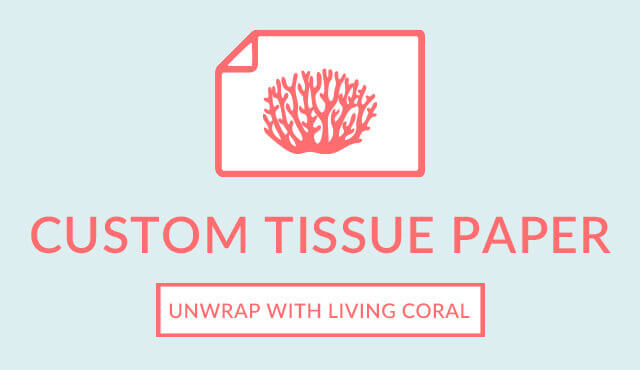 Pantone Color 2019 - Living Coral - Tissue